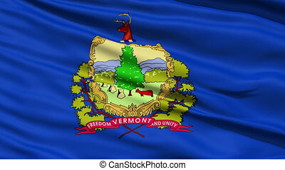 Waving Flag Of The State Of Vermont, America, with the...