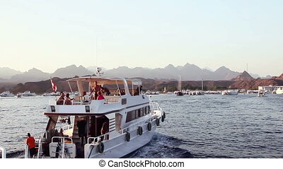 Motor boat in the red sea