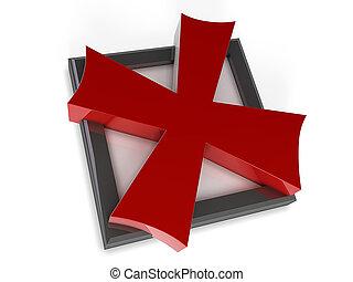 X Mark in a Box