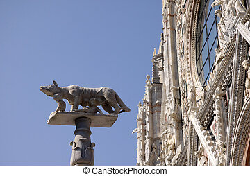 She-Wolf and Twins - A statue of the she-wolf and Romulus...