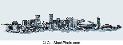 City of New Orleans - Illustration of the skyline of the...