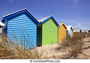 Beach Boxes - Beach boxes at Brighton Beach, Melbourne,...