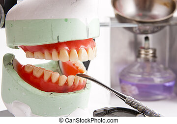 Dental lab articulator and equipments for denture