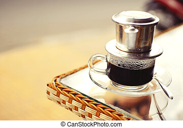 Vietnamese Drip Coffee on a Coffe table