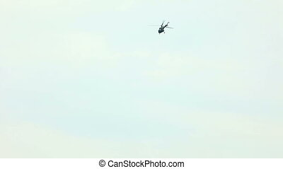 helicopter fly in sky high pilotage airshow
