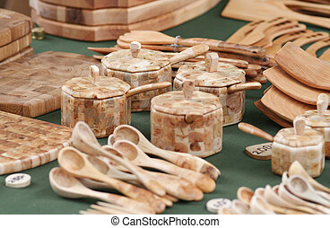 Wood Craft Collection - Wooden hand crafted items of...