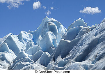 blue ice Perito Moreno - photo was taken on the glacier...