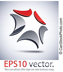 3D modern technology logo icon. - Vector illustration of 3D...