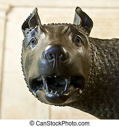 romulus and remus rome symbol - the famous romulus and remus...