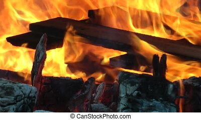 Fire - Wood burning in a Fire