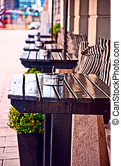 Outdoor cafe - Typical generic outdoor cafe seating...