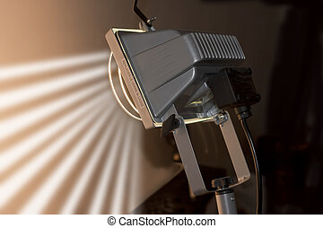 studio light close up - graphic illumination concept, studio...