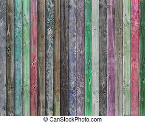 Multicolor wood background