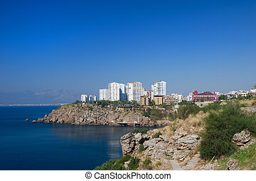 Turkish coast with apartments from Antalya