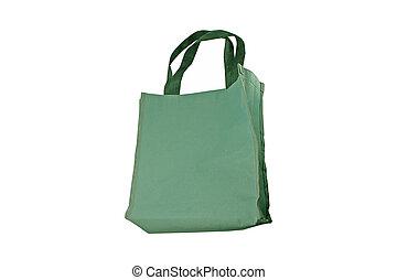 Green cotton bag