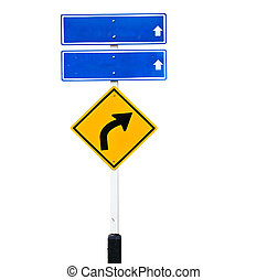 Traffic sign - traffic sign over white background