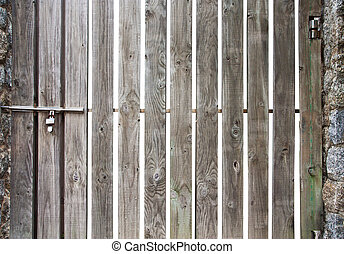 Old wood fence - Old wooden fence isolate over white...