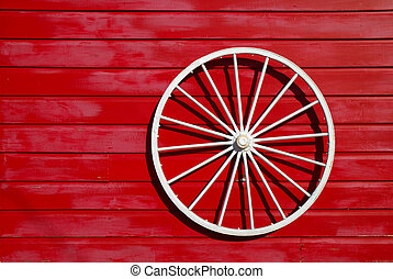 Wagon Wheel Ornament - White wagon wheel is used as an...