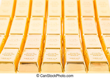 Fine gold 999,9. Set of gold ingots.