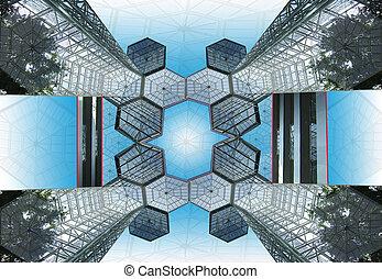 Miracle Atrium - Graphic design of a futurist atrium view...