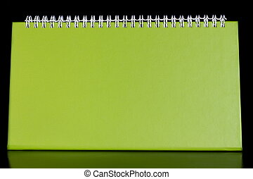 Blank notebook organizer - Green blank notebook organizer on...