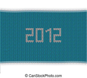 special blue knitted background