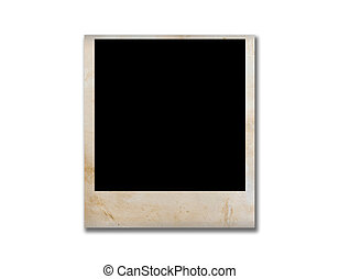 empty grunge photo frame isolate