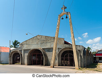 small church - small and primitive church on Bohol,...