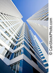 Modern apartment house - The modern apartment house directed...