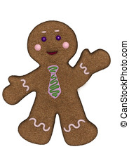 Gingerbread man green blue frosting