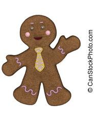 Gingerbread Man Yellow Necktie