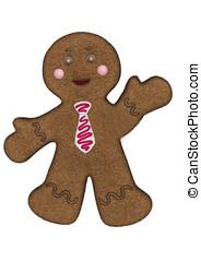 Gingerbread Man Red necktie
