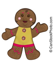 Gingerbread Woman Yellow Frosting