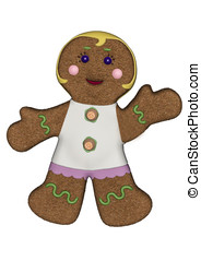 Gingerbread Woman White Frosting