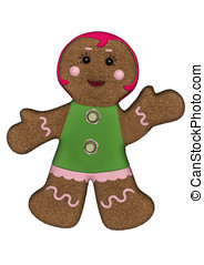 Gingerbread Woman Green Frosting