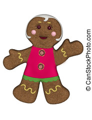 gingerbread woman red frosting