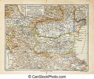 Vintage map of Eastern Europe - The photo is from the...