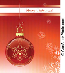 Christmas card. Christmas bauble. Vector illustration