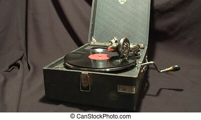Gramophone - very old gramophone.