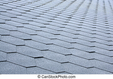 Gray tile roof, for backgrounds or textures