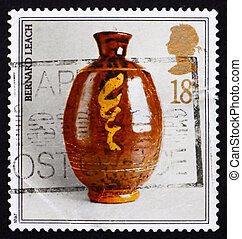 Postage stamp GB 1987 Studio pottery by Bernard Leach -...
