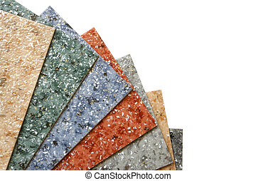 Collection multicolored linoleum - The samples of collection...