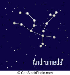 "The constellation "" Andromeda"" star in the night sky. Vector..."