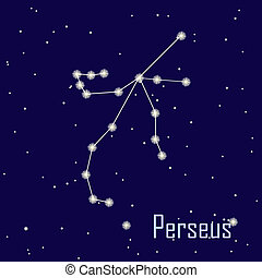 The constellation quot; Perseusquot; star in the night sky...