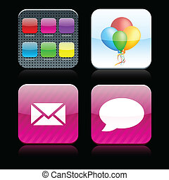 Square high-detailed apps icons. - Vector illustration don't...