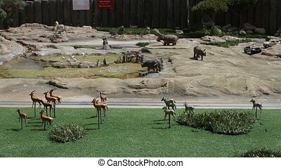 Model of safari in Mini Israel