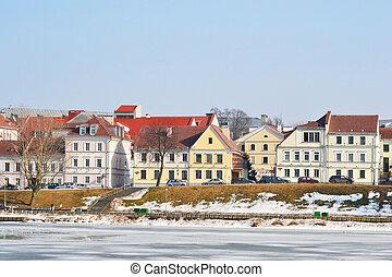 Troetskae pradmests. Minsk - Troetskae pradmests - old part...