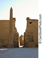 Statues of Ramses II and Obelisk in Luxor Temple