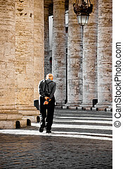 Old men walking
