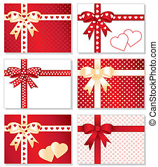 Gift Boxes, Gold Valentine Hearts